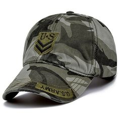CAP 2016 Wholesale Brand Fitted Hat Baseball Cap Casual Military Camouflage Outdoor Sports Snapback Gorras Polo Hats For Men