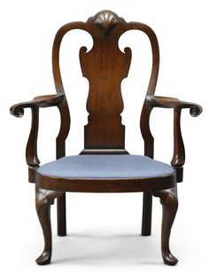 Chairs Confident Antique Queen Anne Walnut Salon Armchair Antiques