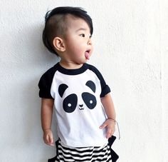 Kawaii Panda Baseball T-Shirt from Whistle & Flute http://www.whistleandfluteclothing.com/