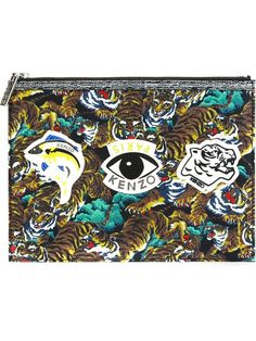 Compre Kenzo Clutch com logo em Tessabit from the world's best independent boutiques at farfetch.com. Shop 300 boutiques at one address.