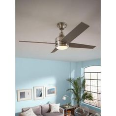 48 Best Living Images In 2014 Brushed Nickel Ceiling Fan