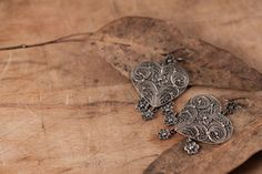 Sterling Silver Filigree Earrings Trilogy of Love by kaneh on Etsy, €59.80