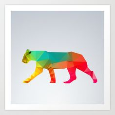Glass Animal Series - Lioness Art Print by Three Of The Possessed - $18.00