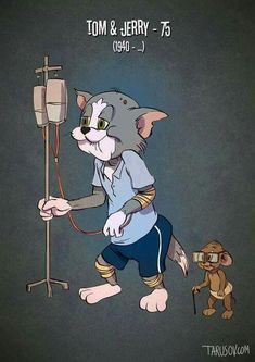 If Cartoon Characters Got Old by Andrew Tarusov