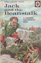this a another version of jack and the beanstalk as you can see in the book cover it shows the giant chasing jack back down the beanstalk because he took something.