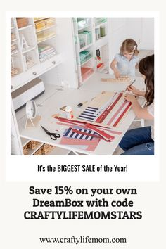 Don;' Miss this sale!! If you have ever wanted a DREAMBOX for your craft room - now is the time to get one! Cool Diy Projects, Diy Crafts For Kids, Craft Projects, Funny Home Decor, Home Decor Signs, Festive Crafts, Diy Wood Signs, Cricut Tutorials, Craft Storage