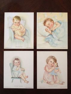 Vintage Baby Prints by Charlotte Becker (group of 4)