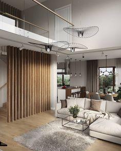 Home Living Room, Interior Design Living Room, Living Room Decor, Room Deviders, Bungalow Interiors, Family Room Decorating, Dining Room Design, Home Office Decor, Home Decor Trends