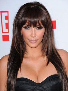 Kim Kardashian Hair As Womens Hairstyles Kim Kardashian Blunt Bangs Hair