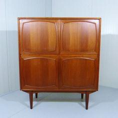 Located using retrostart.com > Cabinet by Unknown Designer for Gustav Bahus Retro Furniture, Furniture Design, Vintage Designs, Mid-century Modern, 1960s, Mid Century, Cabinet, Interior Design, Storage