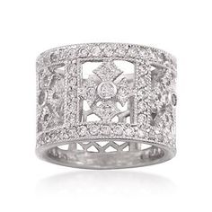 Ross-Simons - 1.90 ct. t.w. CZ Ring in Sterling Silver - #771064