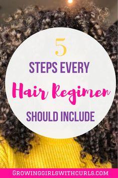 5 Steps Every Hair Regimen Should Include Curly Hair Routine, Curly Hair Tips, Curly Hair Care, Curly Girl, Curly Hair Styles, Natural Hair Styles, Black Natural Hair Care, Black Hair Care, Natural Hair Regimen