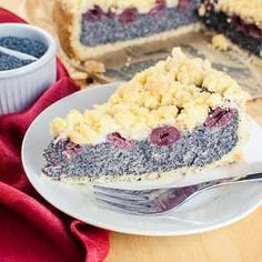 Kirsch-Mohn-Kuchen mit Streuseln