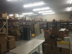 It's starting to look like a warehouse!