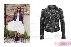 Studded Black Leather Jacket | StyleCard Fashion Portal  http://style-card.co.uk/portal/2013/08/daily-buy-studded-black-leather-jacket/