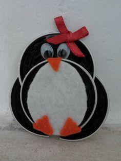 Pinguim feito com capsulas nespresso