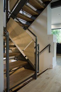 #steel #stairs  #vermont architect Robert Swinburne