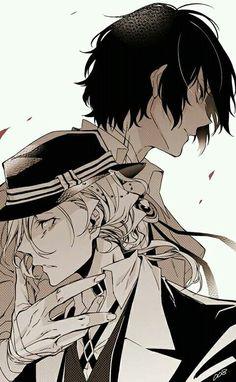 Osamu Dazai and Chuuya Nakahara Manga Anime, Anime Ai, Evil Anime, Me Me Me Anime, Anime Love, Anime Guys, Dazai Bungou Stray Dogs, Stray Dogs Anime, Funny Chat