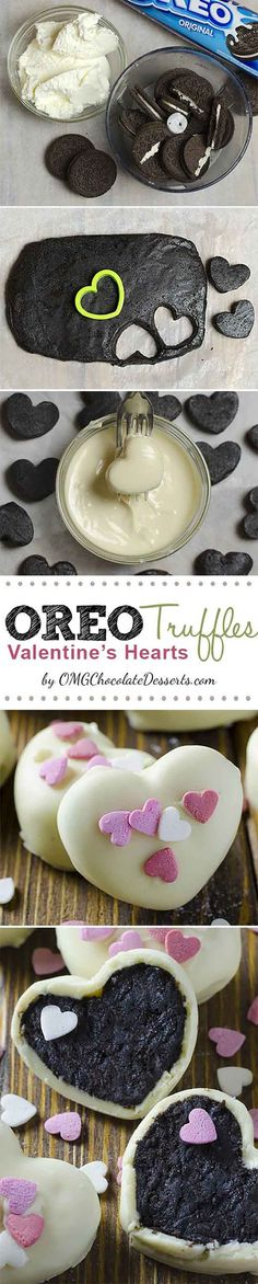 Oreo Truffle Valentines Hearts | 25 Valentines Day Treats That Look Way Too Good to Eat | Beautiful Homemade Gifts For Your Love Ones by DIY Ready at http://diyready.com/valentines-day-treats-that-looks-too-good-to-eat/