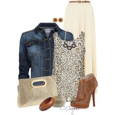 """""""Maxi&Animal Print"""" by ccroquer on Polyvore"""