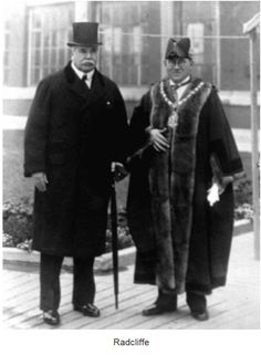 Radcliffe Lord Derby and Mayor John Seddon on the day of the presentation of the Borough's Charter