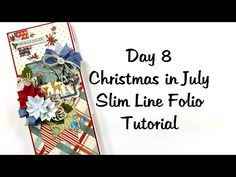 Day 8 Twelve Days of Christmas in July 2020 Slim Line Folio Polly's Paper Studio Tutorial Process - YouTube Christmas Mini Albums, Christmas Minis, Twelve Days Of Christmas, Christmas In July, Craft Projects, Projects To Try, Studio Cards, Notebooks, Journals