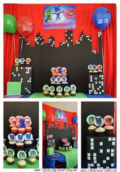 Create the ultimate PJ Masks Birthday Party with this roundup of ideas. From PJ Masks party supplies to the party activity! Get inspired!