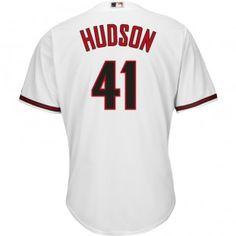 Arizona Diamondbacks Majestic MLB Daniel Hudson 2015 Cool Base Replica Player Jersey Plus Size (White)