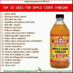 apple cider vinegar has become almost a daily thing in my house