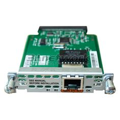 WIC-1B-S/T-V3 Cisco WIC WAN Card, 1-Port ISDN WAN Interface Card (dial and leased line).