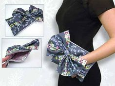 Free Bag Pattern and Tutorial - Pleated Clutch with Big Bow