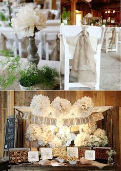 Please check out these classic shabby chic wedding ideas. And use code Pin60 for 10% off wedding items at www.CreativeWeddingStyle.com