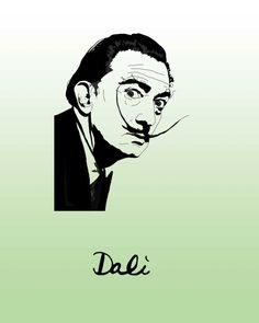 Dali Poster Salvador Dali Graphic by ClaireHefferDesign on Etsy