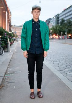 """Tim - Hel Looks - Street Style from Helsinki - """"I like prints and colours. Even one colour is enough.  Second hand shops in Lohja are the secret of my style."""""""