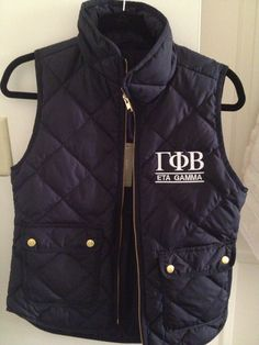 Love these cute vests made by the Eta Gamma chapter! #classic