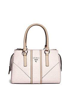 7acdf1aa9a41 GUESS Factory Women s Nichols Logo Box Satchel Handbag Guess Bags