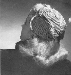 vintage crochet pattern ladies flower petal snood 1940s style half hat lace crochet cotton 1950s costume printable electronic pdf download
