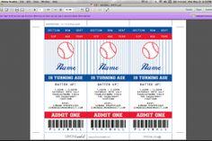 Baseball Invitation & Printable Birthday Party Collection
