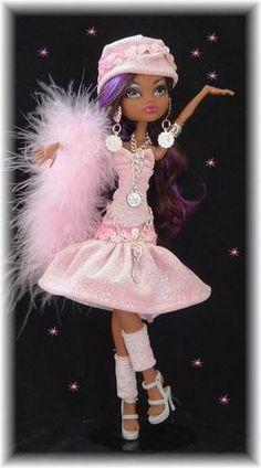 Gorgeous Pink Velvet Sparkle Dress Fits Monster High | eBay