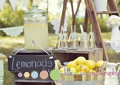 Vintage Lemonade Stand Inspiration Shoot | CatchMyParty.com