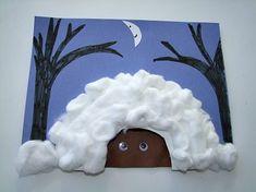 Hibernating Bear Craft cute winter art idea to show children how animals sleep during the winter.