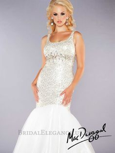 Mac Duggal 2014 Plus Size Prom Dresses - Ivory & Gold Sequin Beaded Strapless Mermaid Gown Ivory Prom Dresses, Unique Prom Dresses, Plus Size Prom Dresses, Dressy Dresses, Homecoming Dresses, Beautiful Dresses, Nice Dresses, Wedding Dresses, Bridal Elegance