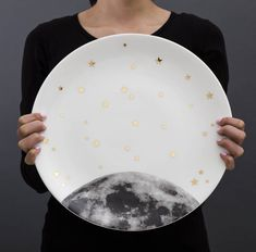 serving platter with cookie cutter : moon and stars by lollipop designs | notonthehighstreet.com