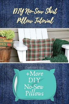 Need new pillows for your home? Here are the best easy DIY no sew pillows. Read Easy DIY No Sew Pillows You Can Make in Minutes Pillow Tutorial, Diy Tutorial, Home Crafts, Diy Crafts, Adult Crafts, Painters Tarp, No Sew Pillow Covers, Felt Pillow, Sewing Shirts