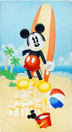 Mickey enjoying his day on the beach.