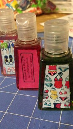 Thirty-one DIY hand sanitizers, great for goodie bags, prizes or gifts!