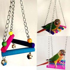 Wooden-Bird-Parrot-Swing-Toys-Parakeet-Cockatiel-Lovebird-Budgie-Cage-Hanging