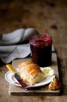 croissant & jam  - breakfast... or dessert@dinner. Add sugar free jam as well...