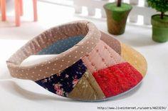 ARTE COM QUIANE - Paps,Moldes,E.V.A,Feltro,Costuras,Fofuchas 3D: molde viseira de patchwork