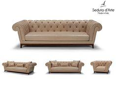 Contemporary Tufted Sofa Set Damasco by Seduta dArte - $2,799.00